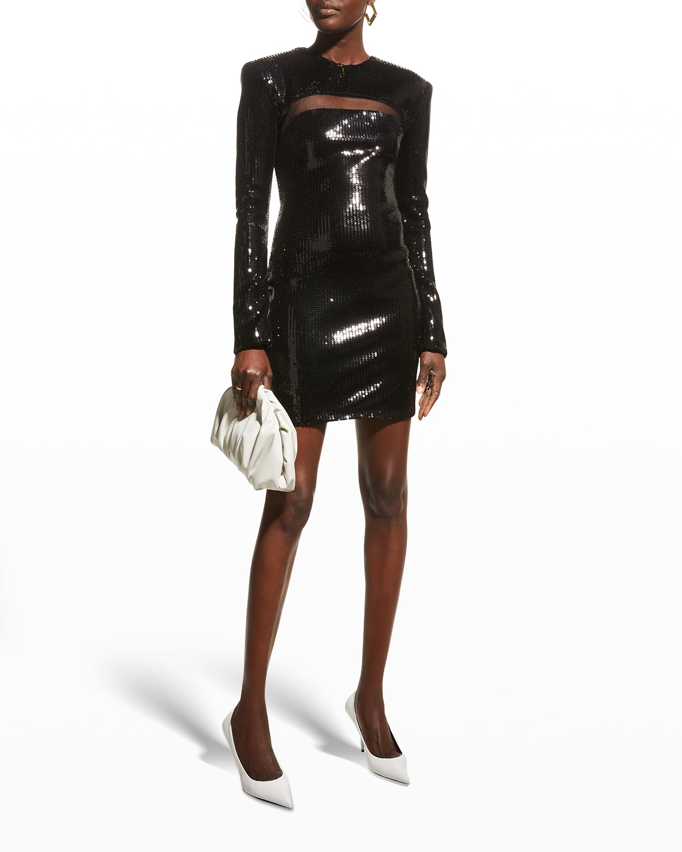 Lilah Cutout Sequin Mini Dress