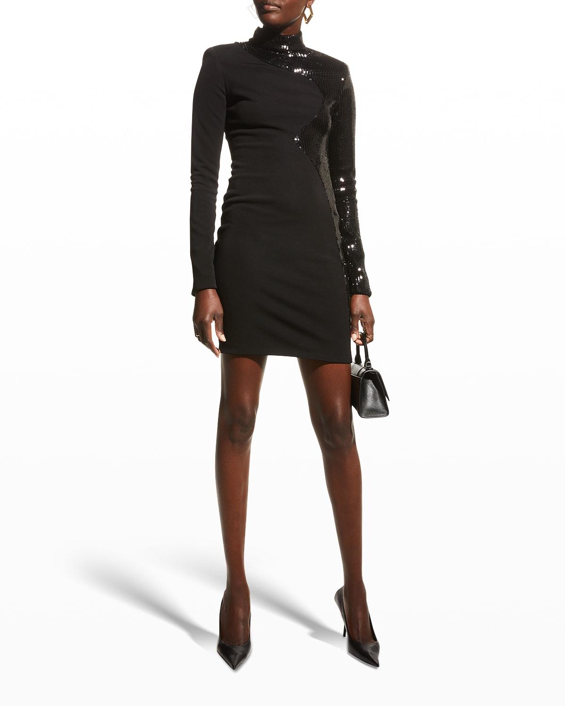 Lily Sequin Zigzag Mini Dress