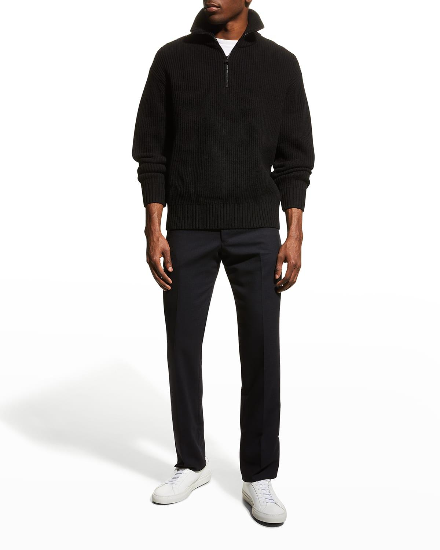 Men's Wool Quarter-Zip Sweater