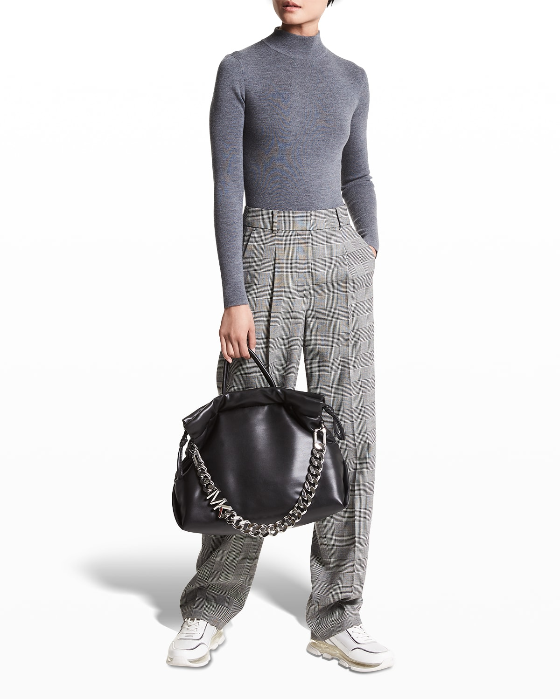 Mock-Neck Long-Sleeve Bodysuit