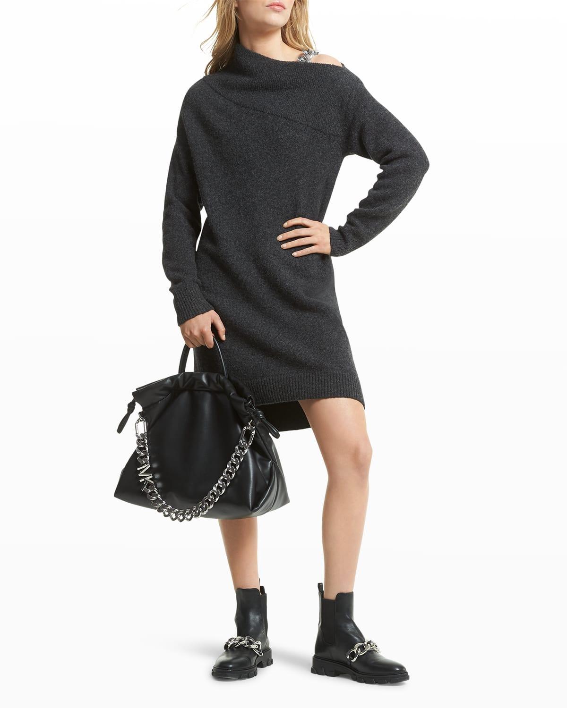 Off-Shoulder Chain Dress
