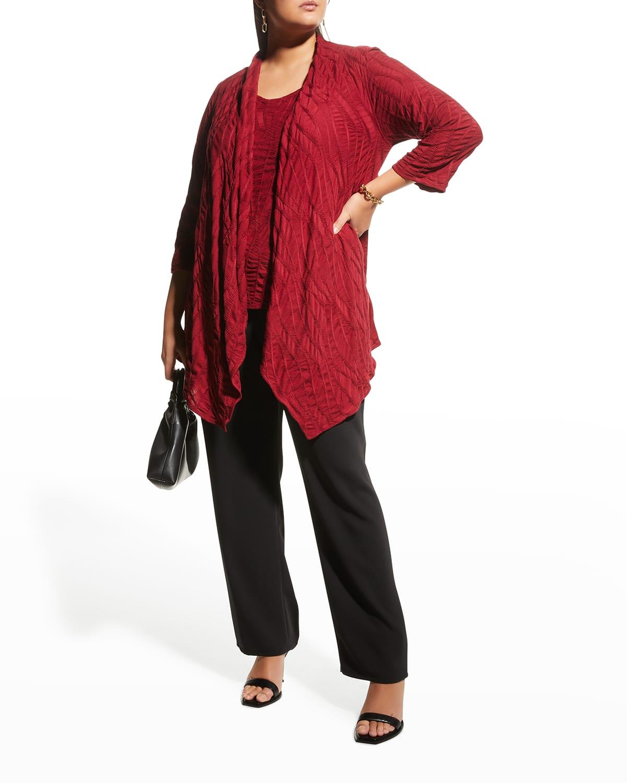 Plus Size Fall on Call Draped Knit Cardigan
