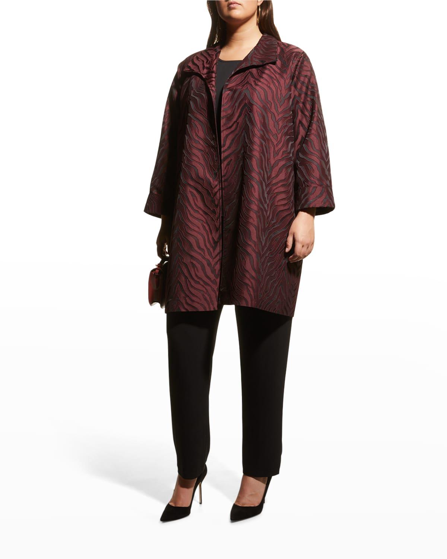 Plus Size Autumn Attraction Jacquard Jacket