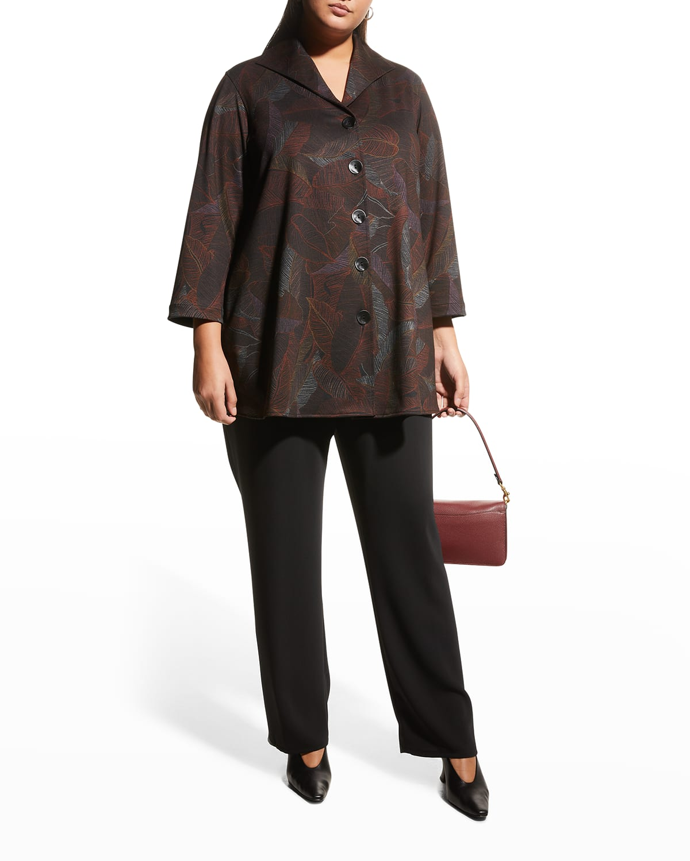 Plus Size Autumn Leaf Ponte City Shirt