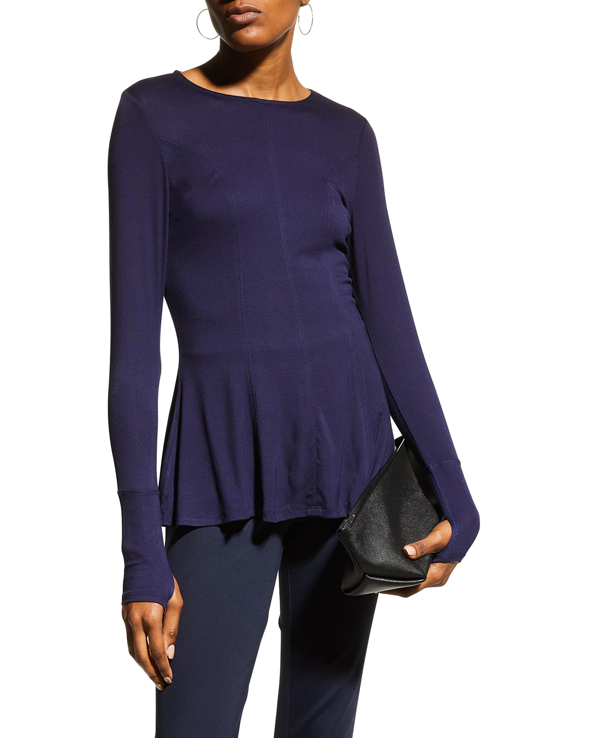 Iras Seamed Front Flare Top