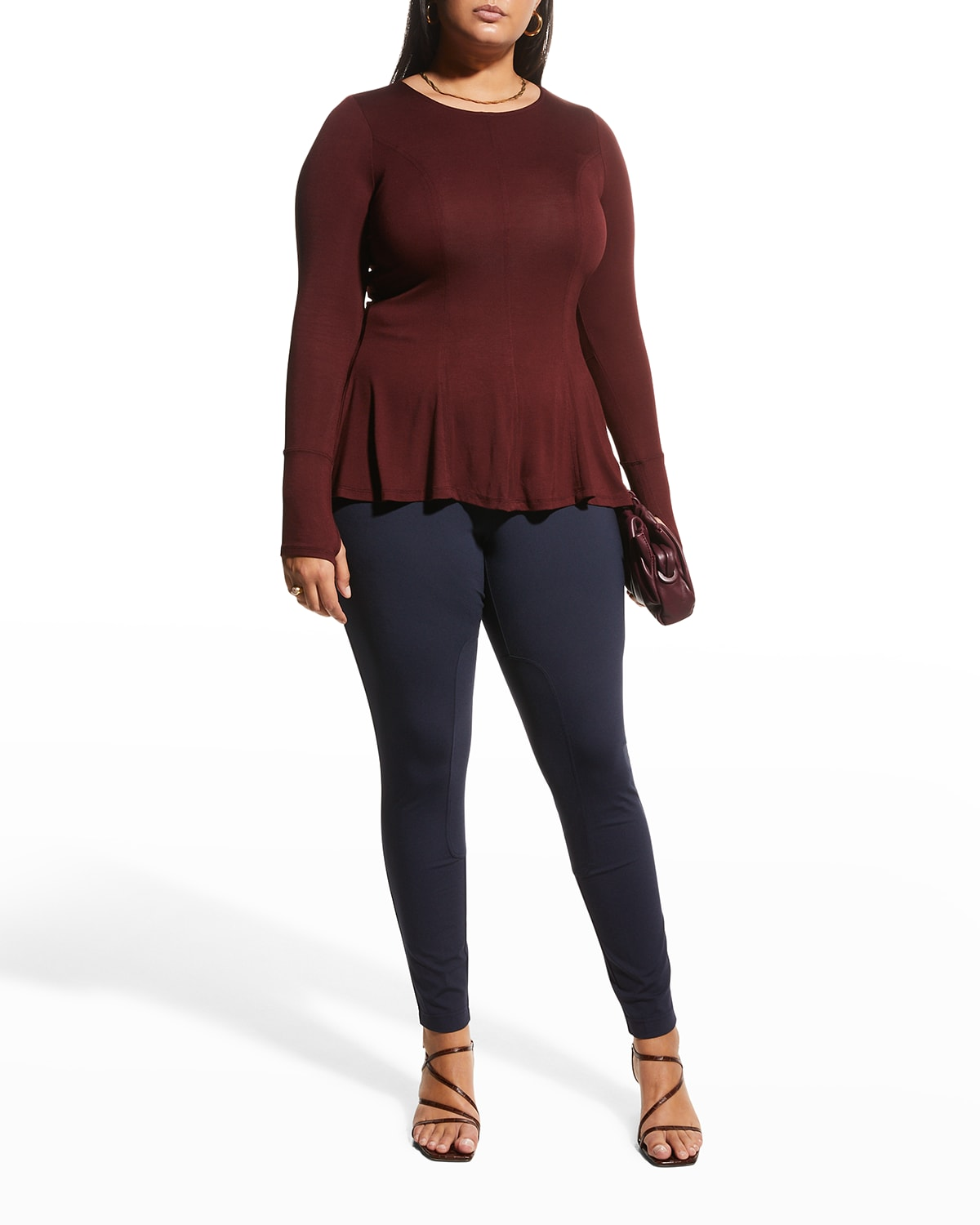Plus Size Iras Seamed Front Flare Top