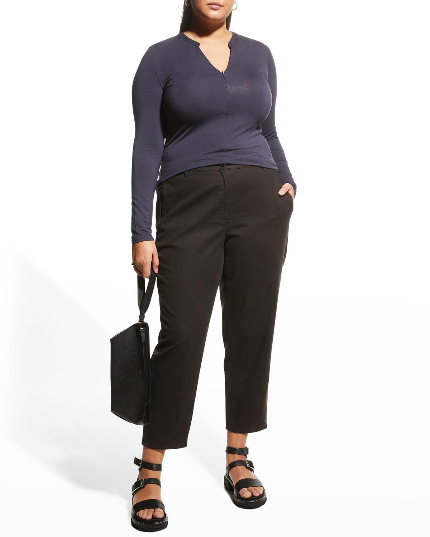 Plus Size Herve Long-Sleeve Zip Top