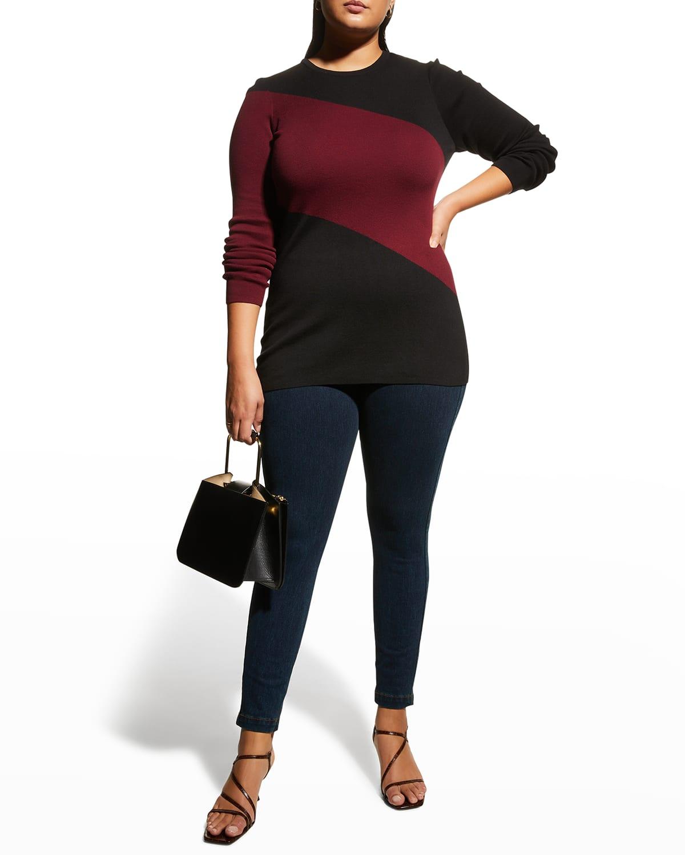 Plus Size Chiron Colorblock Stripe Sweater