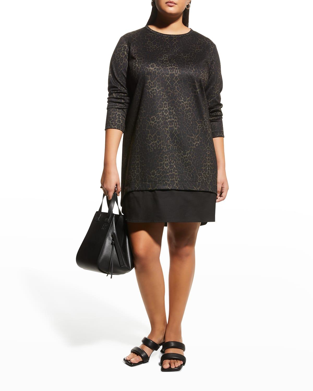 Plus Size Madison Animal-Print Ponte Dress