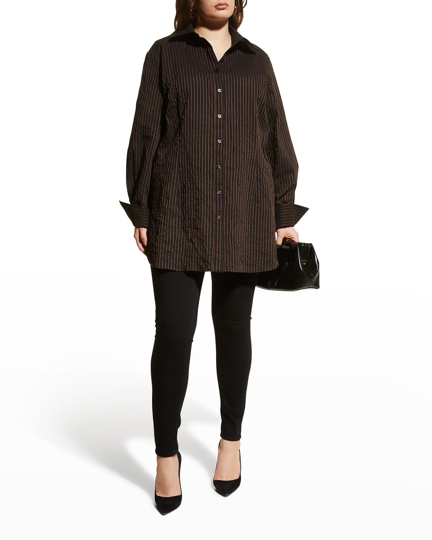 Plus Size Kaylynn Textured Stripe Tunic
