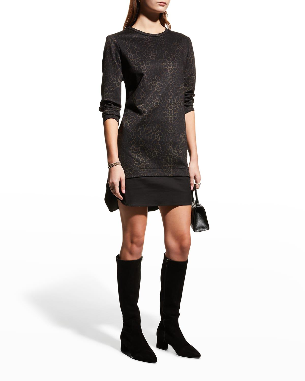 Madison Animal-Print Ponte Dress
