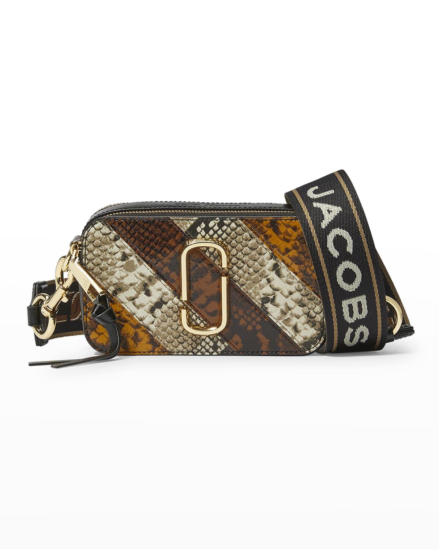 Snapshot Snake-Print Camera Crossbody Bag