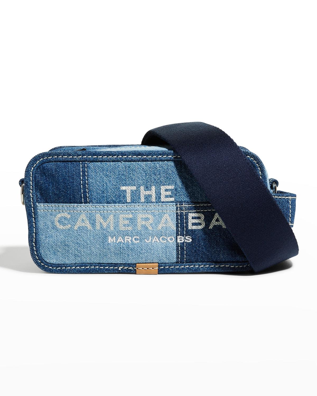 Patchwork Denim Camera Crossbody Bag