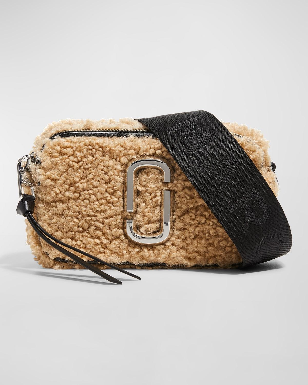 Snapshot Faux-Fur Camera Crossbody Bag