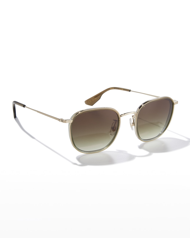 Hyde Classic Square Metal/Acetate Sunglasses