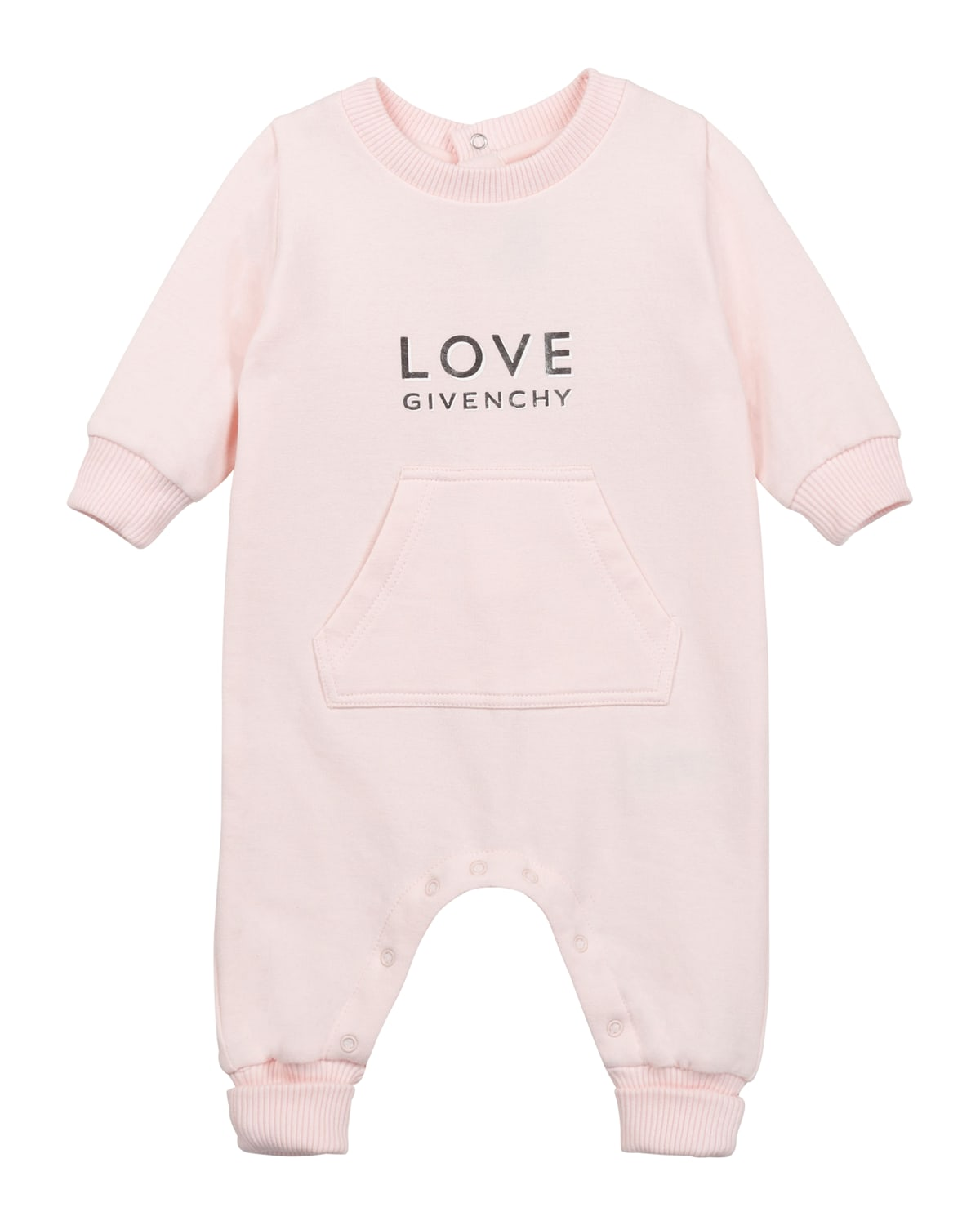 Givenchy Kids' Girl's Love Logo-printed Coverall In 45s Lt Pink