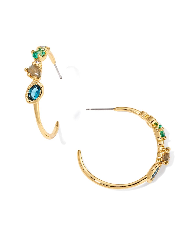 Asterales Cluster Hoop Earrings
