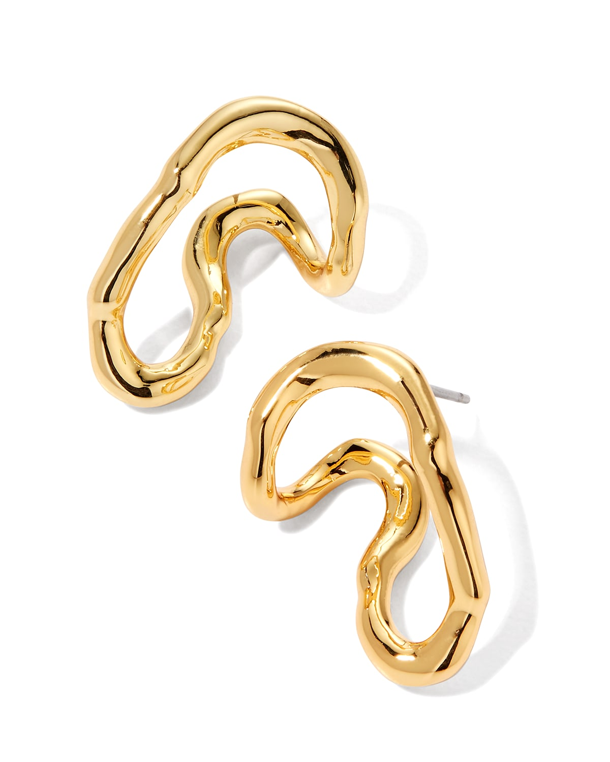 Twisted Gold Wrap Around Stud Earrings