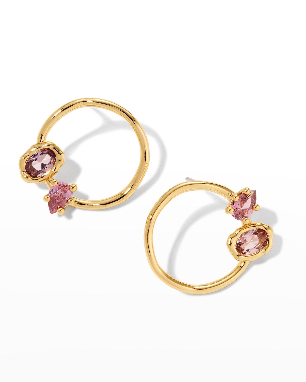 Asterales Circle Stud Earrings