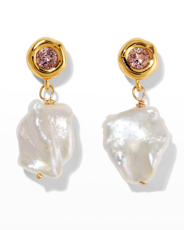 Asterales Delicate Post Drop Earrings
