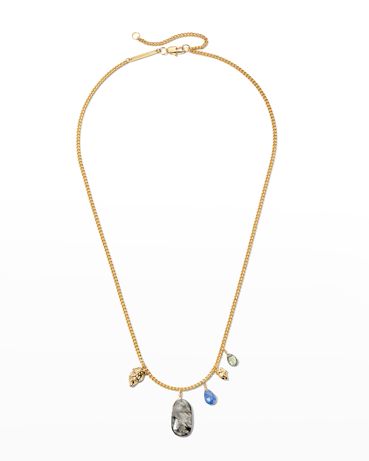 Asterales Nugget and Stone Necklace