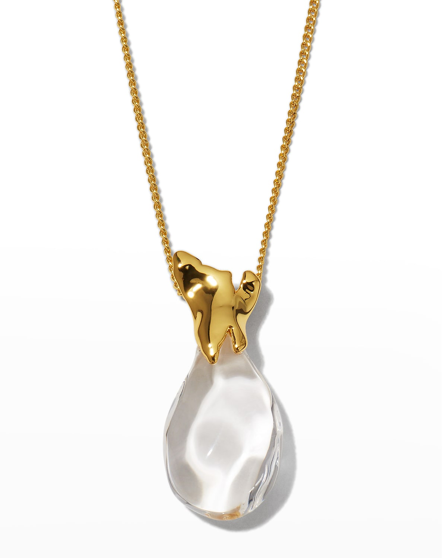 Liquid Lucite Small Vessel Pendant Necklace