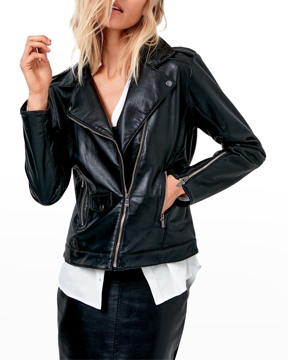 Cult Recycled Leather Fitted Jacket