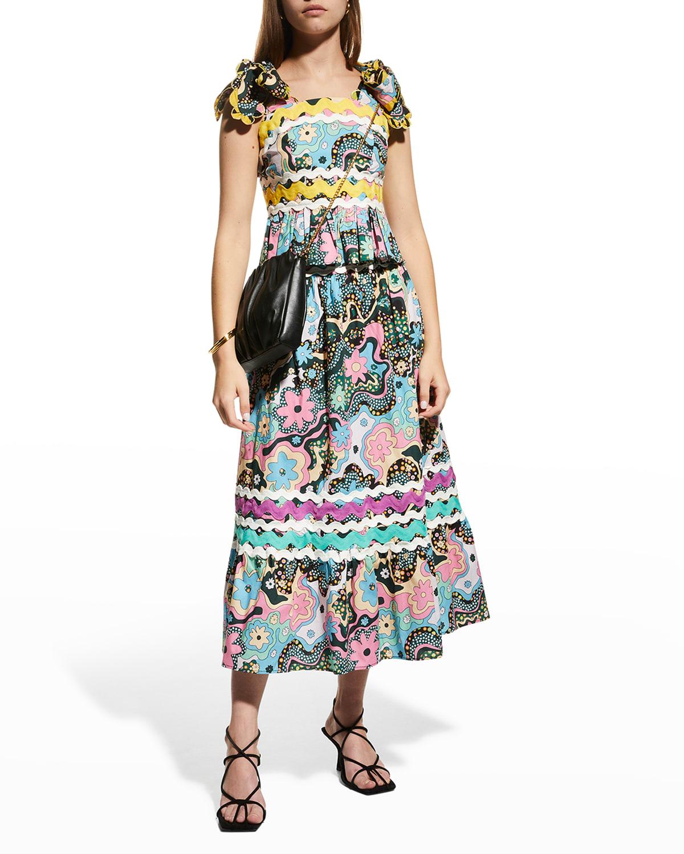 Lavanda Floral Maxi Skirt