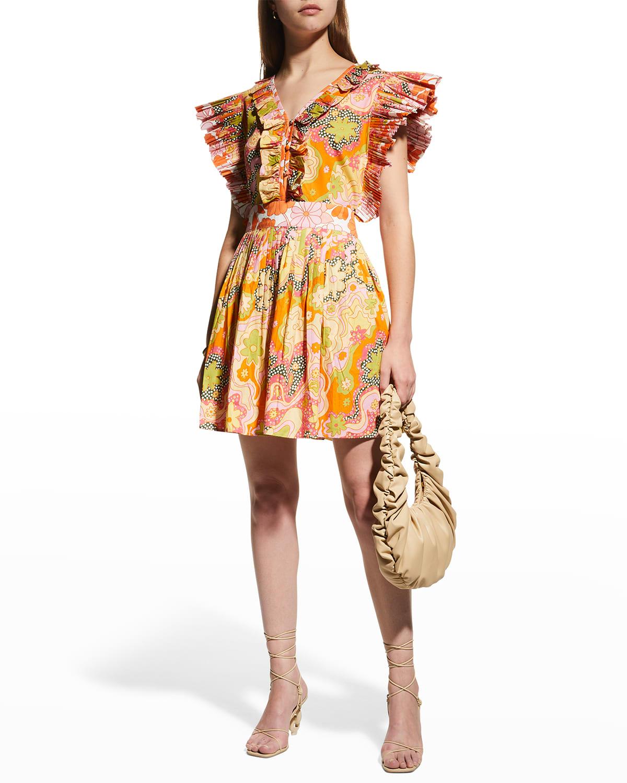 Lirio Ruffle-Trim Mini Dress
