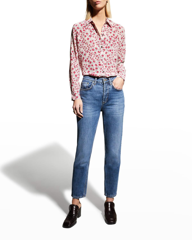 Leema Floral-Print Silk Shirt