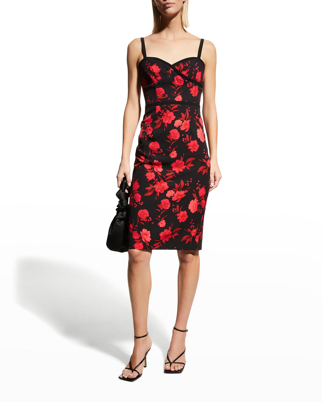 Daria Floral-Print Sheath Dress