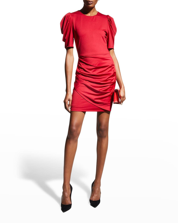 Alexa Puff-Sleeve Mini Dress