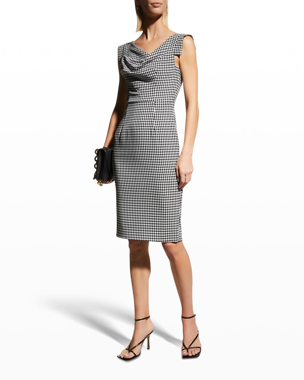 Jackie O Houndstooth Sheath Dress
