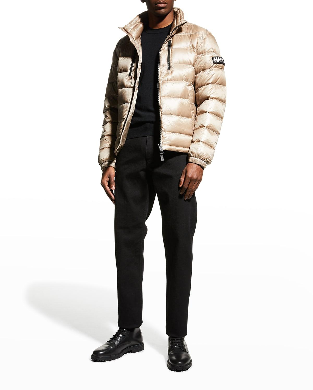Men's Matthew Sateen Down Puffer Coat