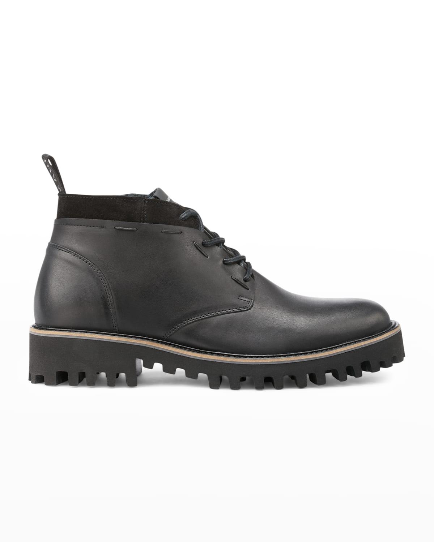 Men's Mix-Leather Lug-Sole Chukka Boots