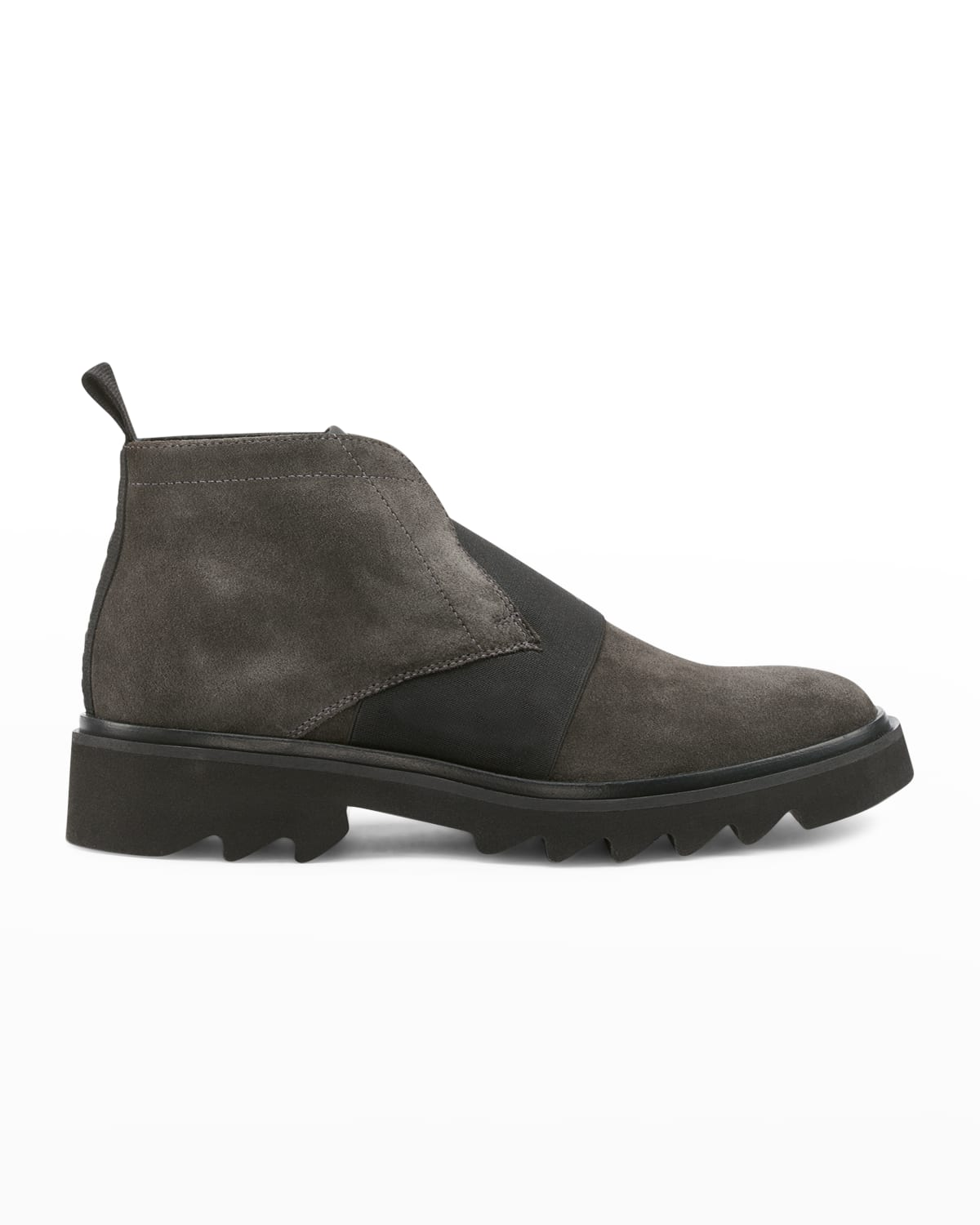 Men's Laceless Suede Chukka Boots