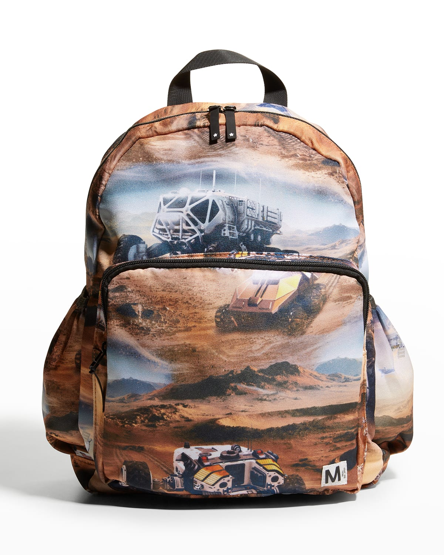 Kid's Mars-Print Big Backpack