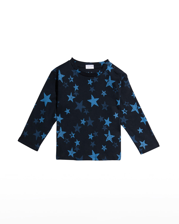 Boy's Eki Star-Print Cotton Sweater