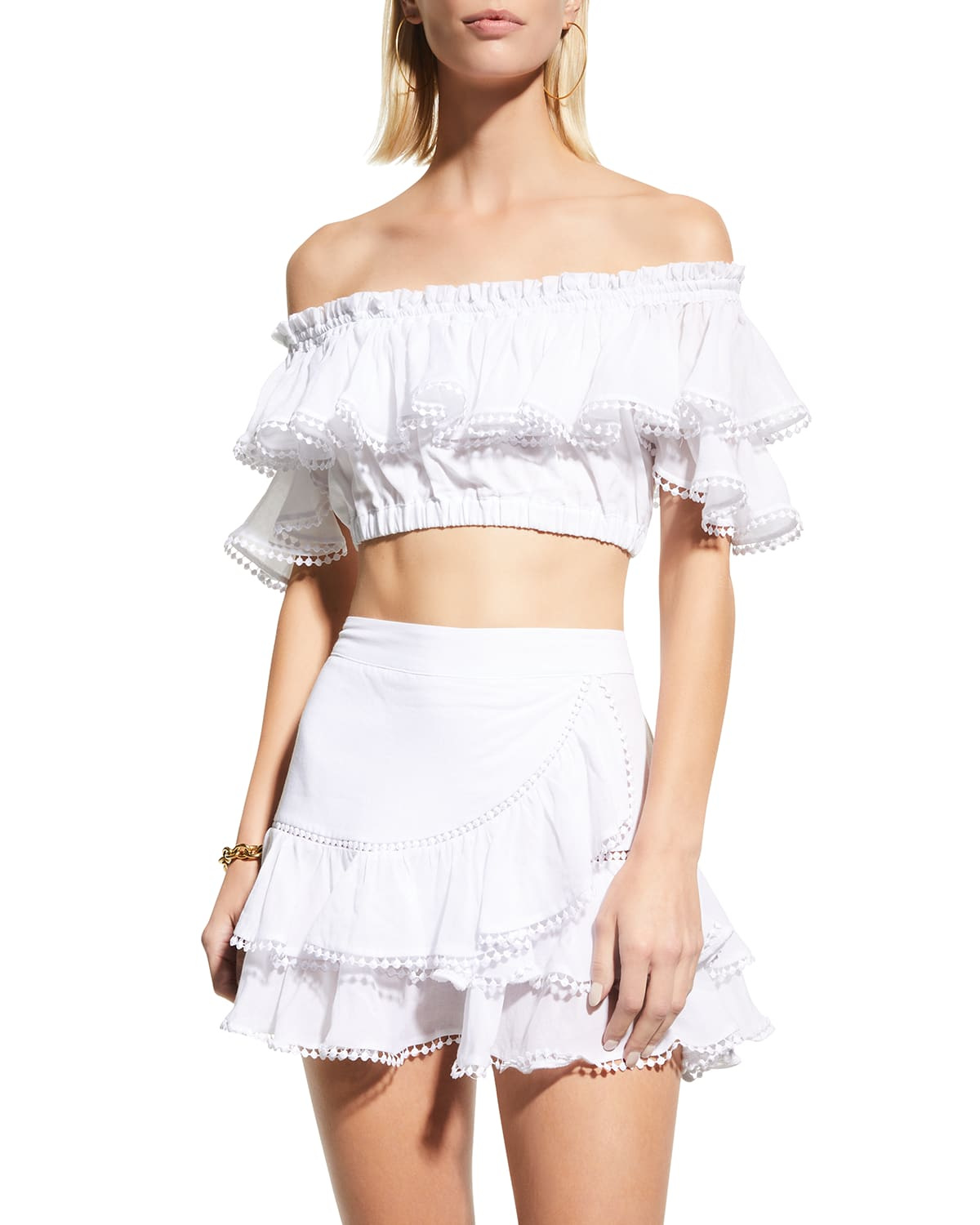 Cata Tiered Lace Crop Top
