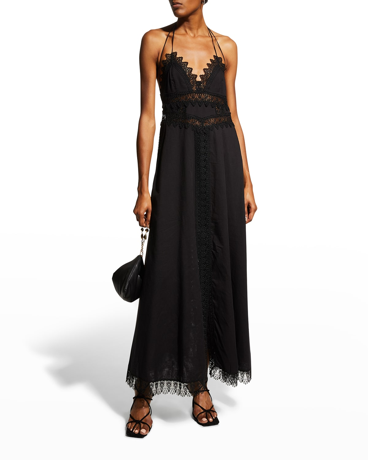 Imagen Long Dress with Lace