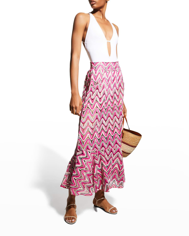 Odessa Zigzag Crochet Maxi Skirt