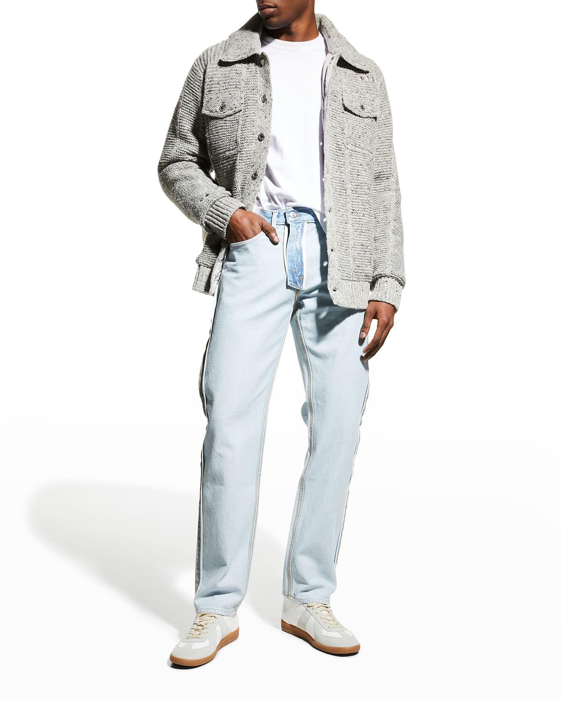 Men's Deconstructed Sweater Jacket