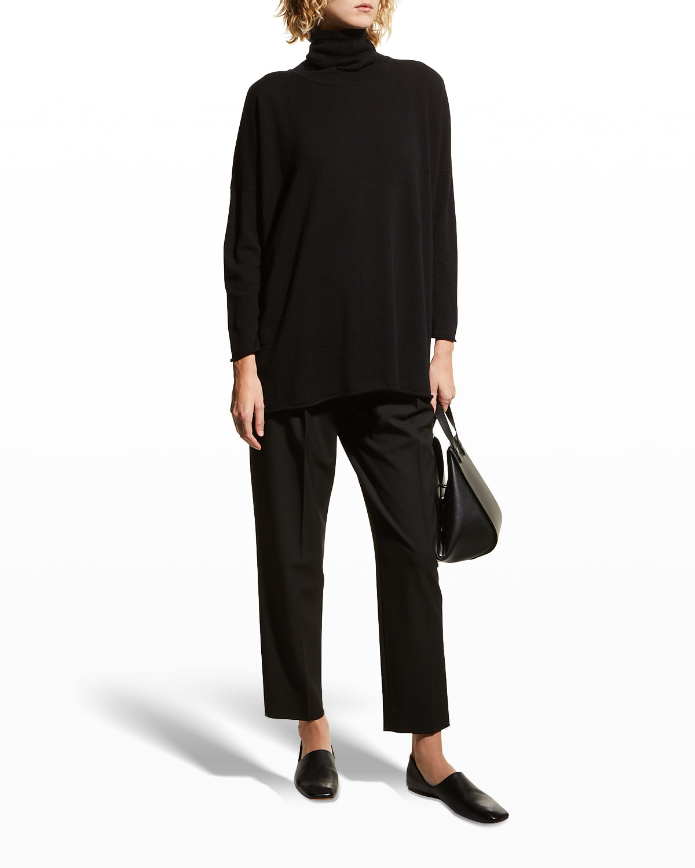 Scrunch-Neck Mid Plus Cashmere Pullover