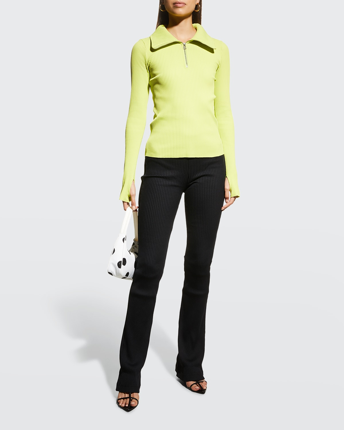 Funnel-Neck Long-Sleeve Top
