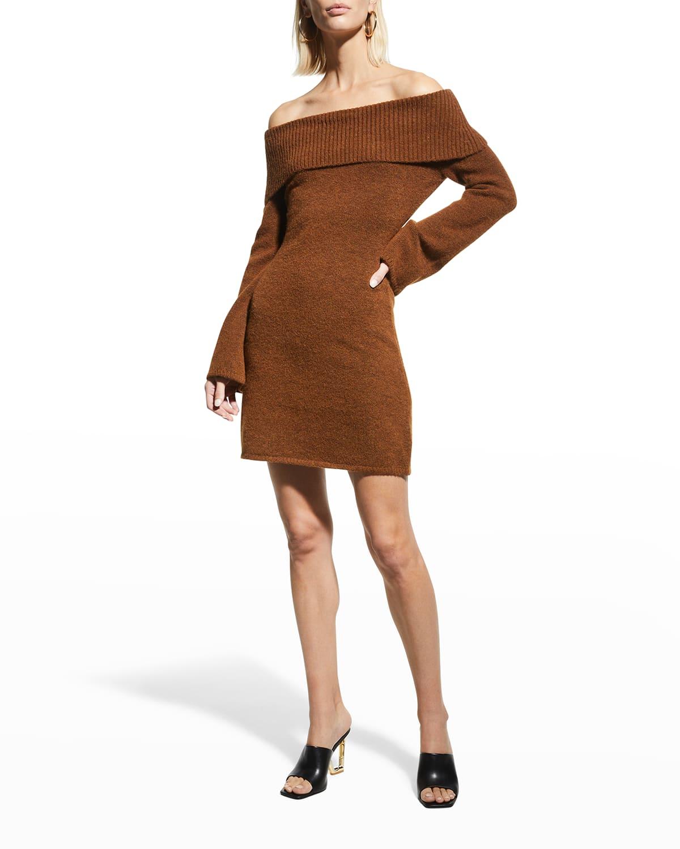 Sophie Off-the-Shoulder Knit Mini Dress