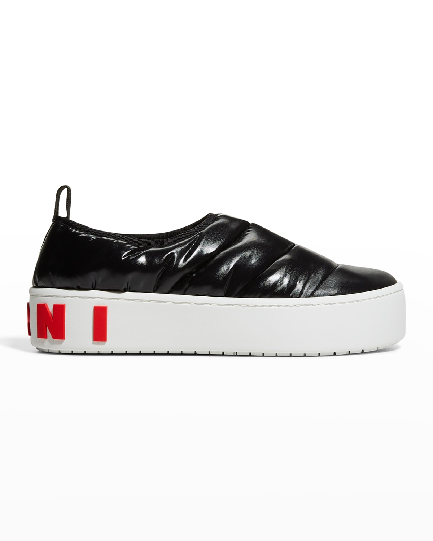 Paw Puffy Nylon Slip-On Sneakers