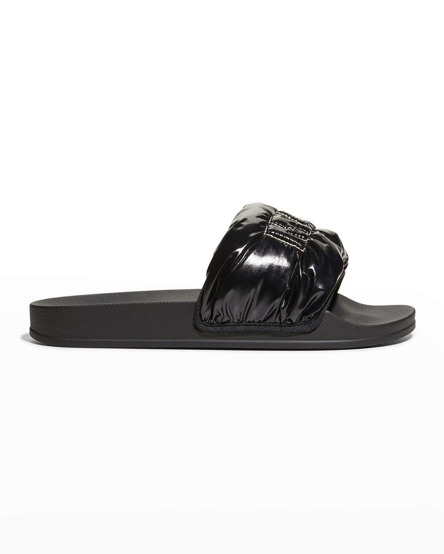 Puffy Nylon Logo Slide Sandals