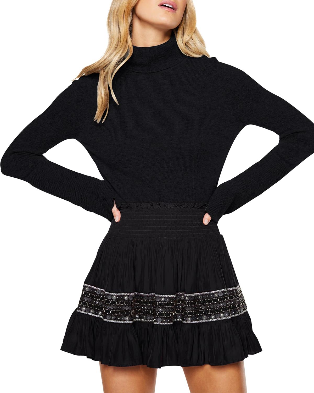 York Tiered Mini Skirt