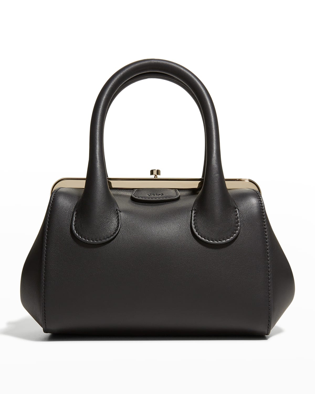 Joyce Calfskin Top-Handle Satchel Bag