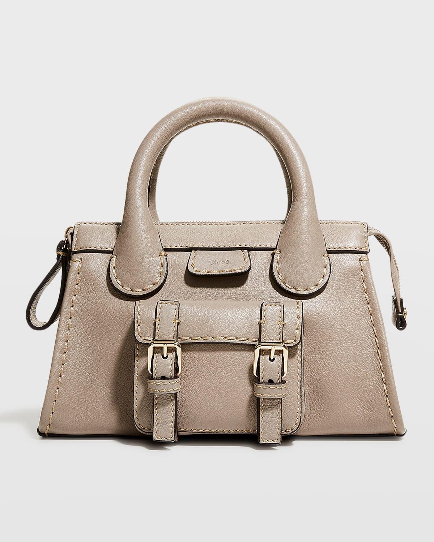 Edith Small Buffalo Leather Satchel Crossbody Bag